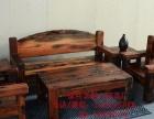 张家界市老船木办公家具办公桌椅子办公台船木茶桌茶台