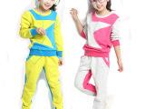 品牌童装 春季韩版新款女童撞色两件套装批发 厂家直销 儿童套装