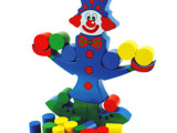 供应奇趣木制婴幼教具 儿童益智力玩具 平衡木玩具批发 小丑平衡