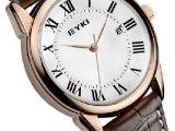 正品牌EYKI艾奇 商务休闲皮带手表日历情侣对表石英表情侣表 8