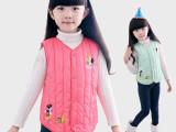 2014新款批发女童卡通印花羽绒棉背心马甲童装羽绒马夹背心
