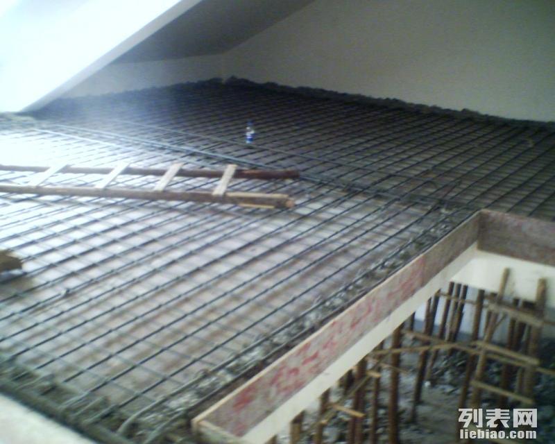 浇筑双层四向钢筋拾厘米厚混凝土扬州平台阁楼复式楼