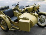 长江750仿古边三轮摩托车沙漠黄