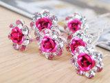 批发水晶玫瑰花盘发小发簪子U型夹发插多色可选新娘发饰批发