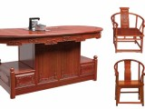 茶台 红木家具 非洲花梨木实木功夫茶台 中式实木家具