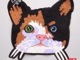 猫头布贴外套DIY装饰补丁贴 大号小猫刺