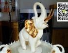 意大利工艺高档摆设室内陶瓷喷泉新招财象乔适结婚礼物