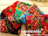 棉麻印花布料服装民族风中国风东北大花布凤凰装饰布料