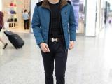 厂家批发 2014秋冬薄款棉衣男韩版立领外套 男式棉服短装外套