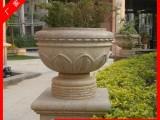 厂家定做石头花盆 花岗岩花钵 庭院景观花钵