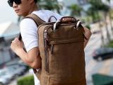 批发韩版男双肩包帆布休闲背包新款学生书包电脑包旅行包