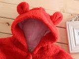 热销秋冬韩版宝宝三层可爱加厚熊仔带帽毛毛披风哪里买