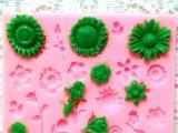硅胶翻糖蛋糕具 圣诞植物蛋糕模 手工软陶工具 烘焙工具
