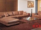 米洛同款时尚高端真皮沙发 左右组合转角外贸沙发 全皮沙发批发