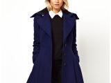 【清仓价】新羊毛呢大衣中长款女装 时尚欧美大翻领呢子大衣外套