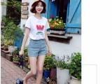 6元韩国t恤女士上衣夏装短袖T恤女装纯棉上衣白色小衫打底衫