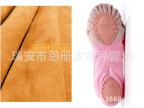 环保黄牛二层绒皮软底舞蹈鞋芭蕾平底牛皮材料恩册皮革95%中皮