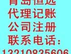 青岛恒远代理记账纳税申报财务审计税务登记