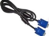 【厂家直销】 VGA线 1.5米 3+5蓝头VGA线 双磁环VG