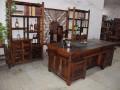 老船木茶桌椅组合船木家具中式功夫茶几客厅阳台泡茶台复古茶艺桌