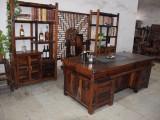 批发老船木实木茶桌茶台六件套两米茶桌功夫泡茶几茶盘茶具桌椅