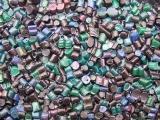 供应高温PE杂色块料再生料机头料 废塑料