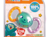 澳贝正品 奥贝小猴摇铃婴儿宝宝启蒙0-1岁玩具 牙胶橡胶