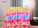 优雅四季毯 婚庆毛毯子 一面棉一面绒 既是被套又做盖毯