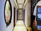 山水装饰作品海棠湾120平中式风格实景图