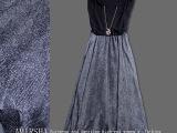欧洲站女装 欧美大牌无袖连衣长裙批发 真丝拼接连衣裙代理加盟
