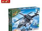 正品邦宝创意乐高式拼插小颗粒积木益智玩具3合1阿帕奇战机8478