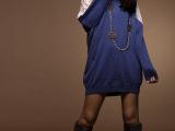 韩版女装 韩版宽松款蕾丝拼接性感长款打底T恤小衫 030