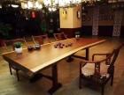 特价促销胡桃木大板桌茶桌茶台办公桌餐桌可送货上门