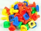 早教益智儿童玩具 螺母拆装拼装积木 螺母组合 螺丝碰对积木 500g