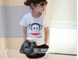 2014夏装新款 潮品 男童女童纯棉卡通短袖 时尚儿童百搭T恤上