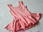 (0818)儿童舞蹈裙服装背心女童练功服体操服连体少儿芭蕾舞考级服