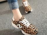 欧州站新款豹纹N字鞋女运动鞋内增高跑步女鞋厚底阿甘鞋女鞋批发
