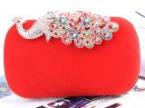 晚宴包高档新款红色新娘包包结婚包纯手工宴会包厂家欧美外贸原单