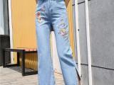 广西柳州哪里有工厂牛仔裤批发 外贸尾单牛仔裤韩版女装小脚裤