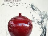 景德镇红陶瓷泡菜坛子 大号酒坛特价批发 摆饰坛子 陶瓷储物坛子