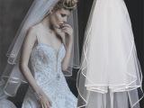 批发新娘结婚纱头纱双层缎带包边 多层造型头纱加发梳 厂家直销