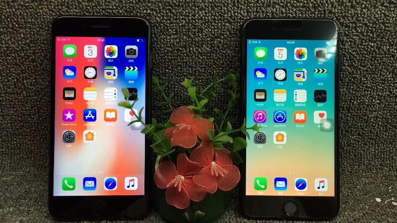 苹果8plus精仿升级镜面后壳漂亮极了