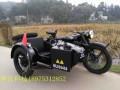 长江款750边三轮摩托车黑色半亚光带贴花
