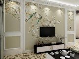 专业贴墙纸施工,各种墙纸 壁画出售