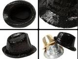 平馨帽业 儿童亮片爵士帽表演出道具 亮片礼帽 成人街舞台帽子