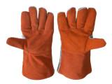 上海置安牛皮铝箔耐高温手套 1000度高温手套