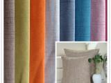厂家直销供应 2014年新纯色沙发抱枕仿麻复合布涤纶阳离子流星麻
