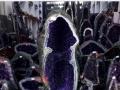 武汉巴西乌拉圭紫晶洞风水石聚宝盆特价批发包邮