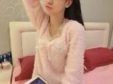 新品特价掌柜推荐长裤春季无领圆领简约自然现货粉色长袖睡衣睡衣