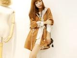 2013秋冬新款 韩版蕾丝长袖风衣外套!超美的蕾丝工装大衣